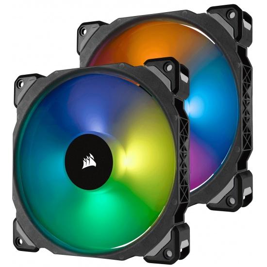 Corsair ML140 Pro PWM RGB 140mm Computer Case Fans - Dual Pack Image