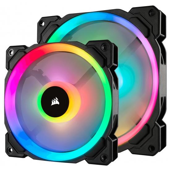 Corsair LL140 PWM RGB 140mm Computer Case Fans - Dual Pack Image