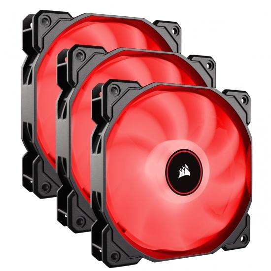 Corsair AF120 Air Series LED 120mm Computer Case Fans - Triple Pack - Red Image