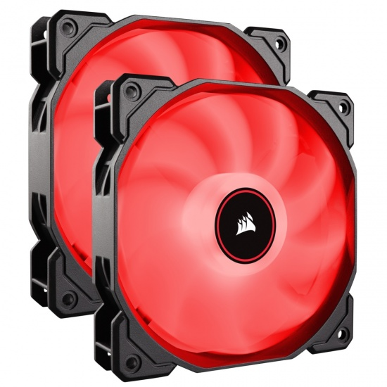 Corsair AF140 Air Series LED 140mm Computer Case Fans - Dual Pack - Red Image