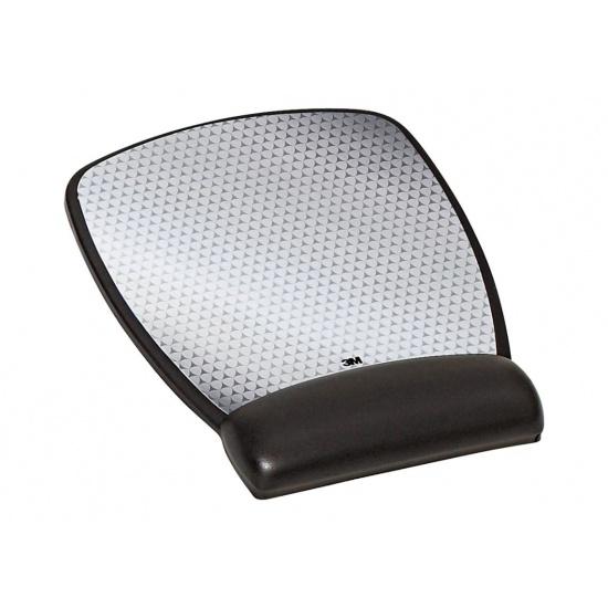 3M Leatherette Gel Battery Saving Mouse Pad w/Wrist Rest Image