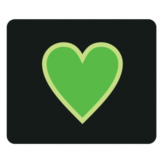 Centon OTM Prints Mouse Pad - Green Heart Image