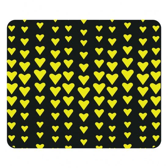 Centon OTM Prints Mouse Pad - Yellow Hearts Image
