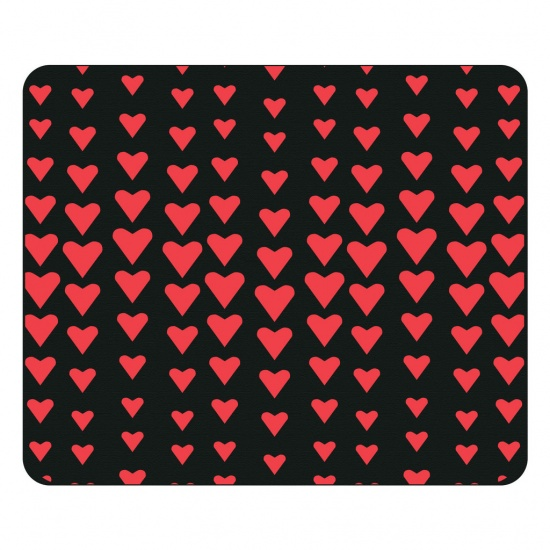 Centon OTM Prints Mouse Pad - Red Hearts Image
