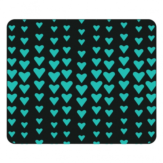 Centon OTM Prints Mouse Pad - Turquoise Hearts Image