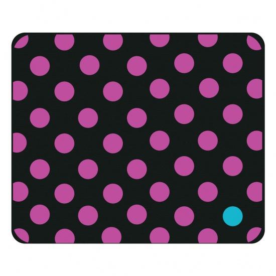 Centon OTM Prints Mouse Pad - Purple Dots Image