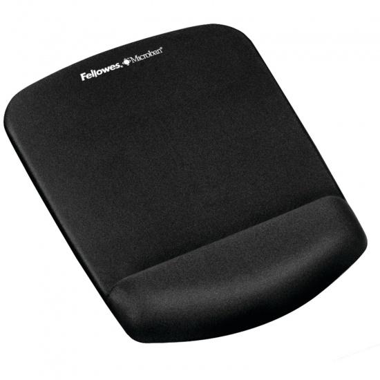 Fellowes PlushTouch Mouse Pad w/Wrist Rest - Black Image