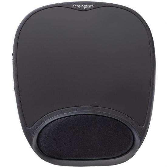 Kensington Comfort Gel Mouse Pad w/Wrist Rest - Black Image