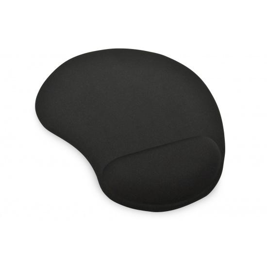 Ednet Gel Mouse Pad w/Wrist Rest - Black Image