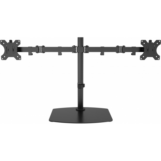 Vision Flat-Panel Dual Desk Stand - Up to 32-inch - Black Image