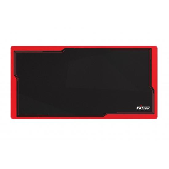 Nitro Concepts DM12 Mouse Pad - Black, Red Image
