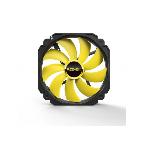 Reeven Cold Wing 14 140mm 1200RPM Case Fan Yellow Image
