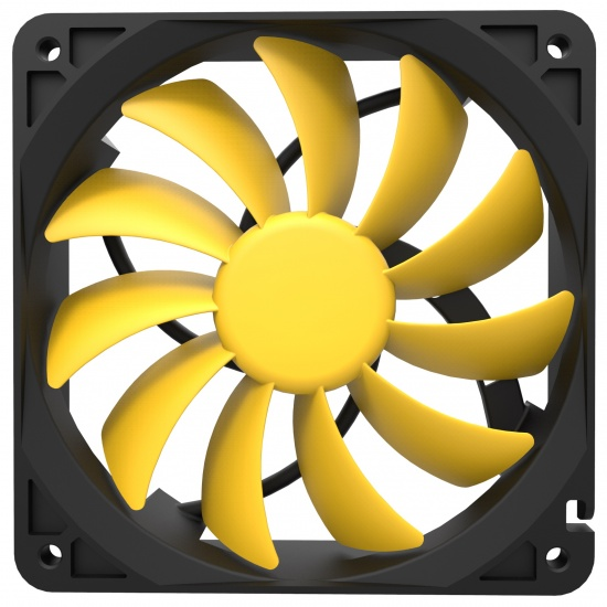 Reeven Cold Wing 12 120mm 2000RPM Case Fan Yellow Image