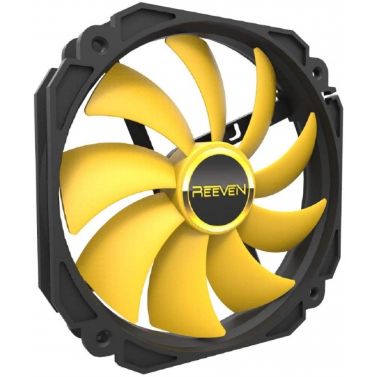 Reeven Cold Wing 14 140mm 800RPM Case Fan Yellow Image