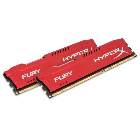 8GB Kingston HyperX Fury DDR3 1600MHz CL10 Dual Channel Kit (2x 4GB) - Red Image