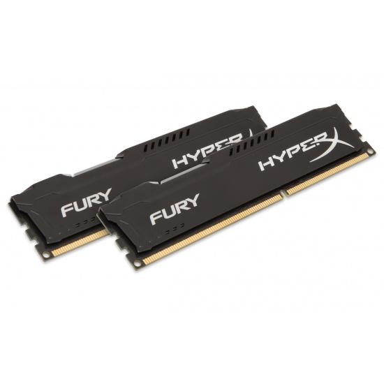 8GB Kingston HyperX Fury DDR3 1600MHz CL10 Dual Channel Kit (2x 4GB) - Black Image