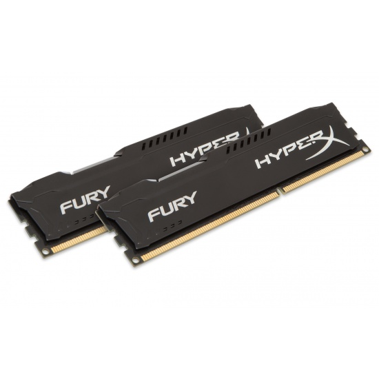 16GB Kingston HyperX Fury DDR3 1333MHz CL9 Dual Channel Kit (2x 8GB) - Black Image