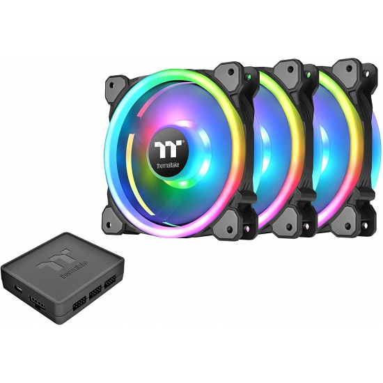 Thermaltake Riing Trio 12 RGB 120mm Computer Case Fans - Triple Pack Image