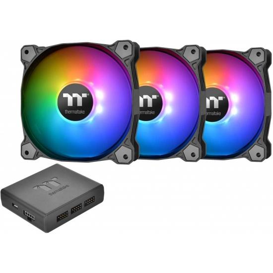 Thermaltake Pure Plus 14 RGB 140mm Premium Edition Computer Case Fans - Triple Pack Image