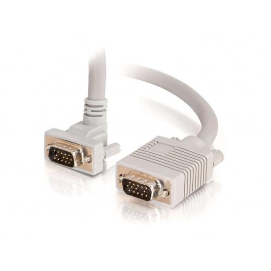 C2G 50ft Premium Shielded 90° Downward Angled VGA Cable Image