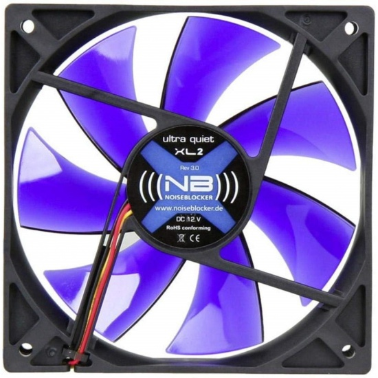 Noiseblocker Black Silent XL-P 120mm Computer Case Fan Image