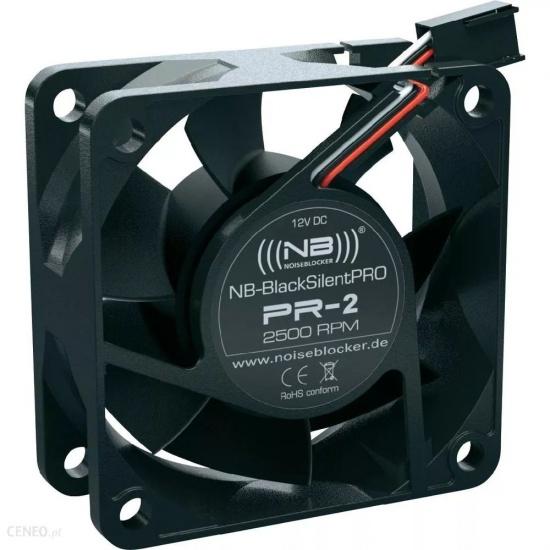 Noiseblocker Black Silent Pro PR-2 60mm Computer Case Fan Image