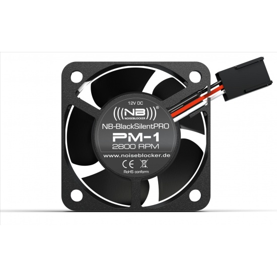 Noiseblocker Black Silent Pro PM-1 40mm Computer Case Fan Image