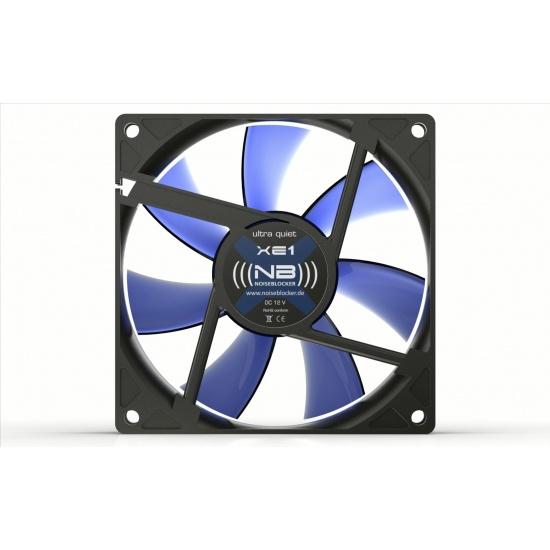 Noiseblocker Black Silent XE-1 92mm Computer Case Fan - Blue Image