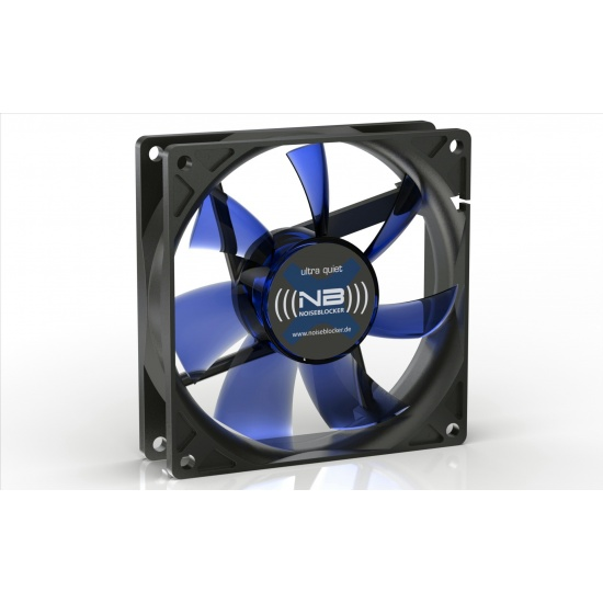 Noiseblocker Black Silent XE-2 92mm Computer Case Fan - Blue Image