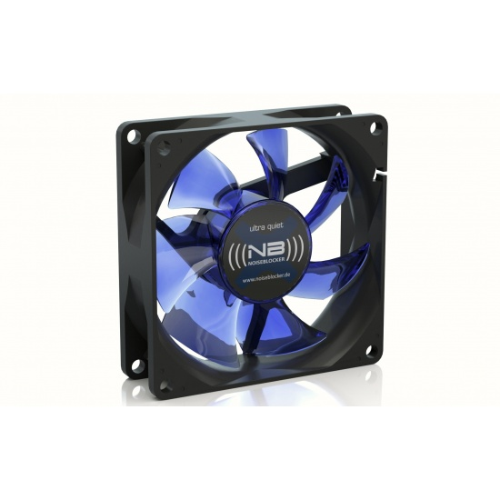 Noiseblocker Black Silent X-1 80mm Computer Case Fan - Blue Image