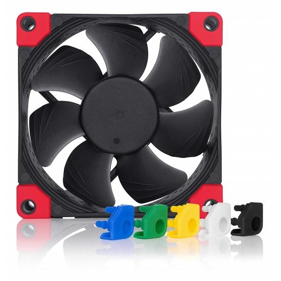 Noctua Chromax Black Swap 80mm 2200RPM PWM Computer Case Fan w/Anti-Vibration Pads Image