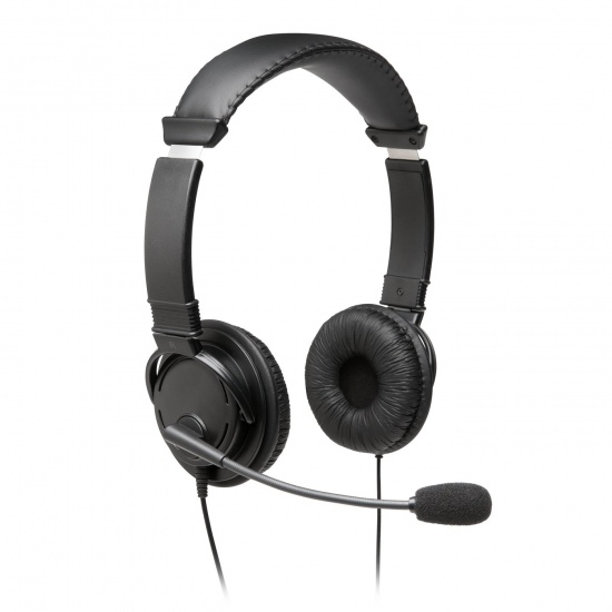 Kensington Wired Hi-Fi Headphones w/Microphone - Black - 6 ft Image