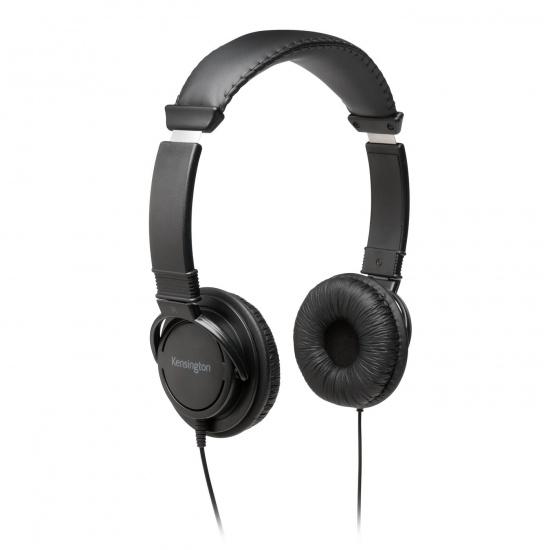 Kensington USB Wired Hi-Fi Headphones - Black - 6 ft Image