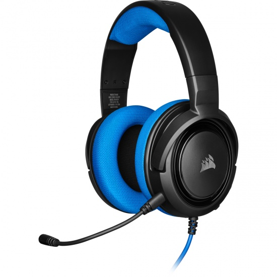 Corsair HS35 Wired Stereo Gaming Headset w/Microphone - Blue Image