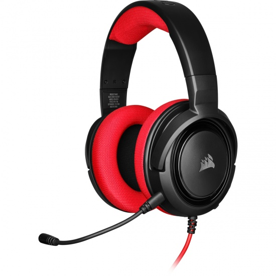 Corsair HS35 Wired Stereo Gaming Headset w/Microphone - Red Image