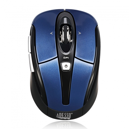 Adesso iMouse S60L Wireless USB Optical Nano Mouse - Blue Image