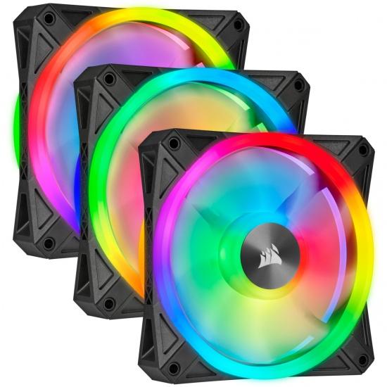 Corsair iCUE QL120 RGB 120mm Computer Case Fans - Triple Pack Image
