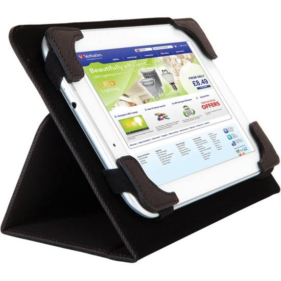Verbatim Universal Folio Fold-able Tablet Sleeve - 10 in Image