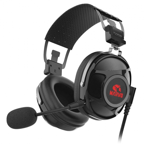 Marvo Scorpion Pro HG9053 Wired Surround Sound LED Gaming Headset w/Microphone Image