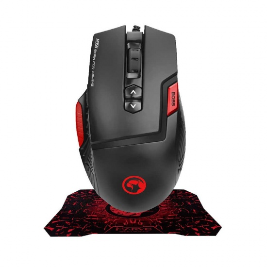 Marvo Scorpion M355+G1 USB Wired Optical Gaming Mouse and Mouse Pad Combo Image