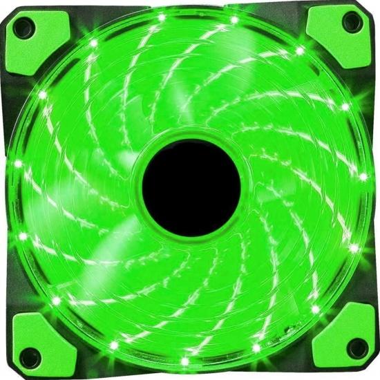 Marvo Scorpion FN-10 120 mm LED Computer Case Fan - Green Image