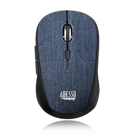 Adesso iMouse S80L Wireless Optical Fabric Mini Mouse - Blue Image