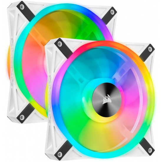 Corsair iCUE QL140 RGB 140 mm Computer Case Fan - Dual Pack - White Image