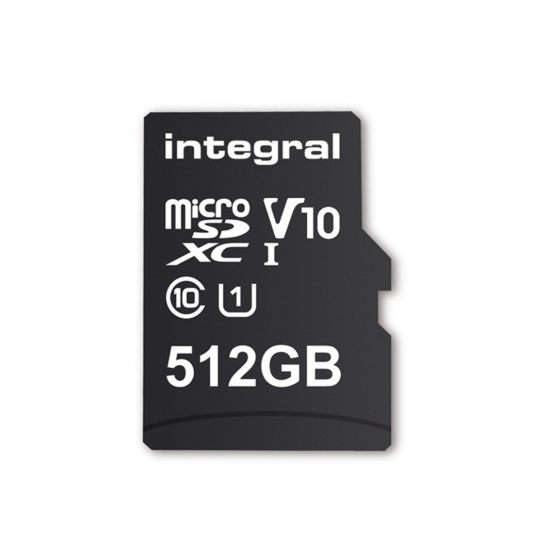 512GB Integral microSDXC CL10 UHS-I U1 Smartphone and Tablet Memory Card Image