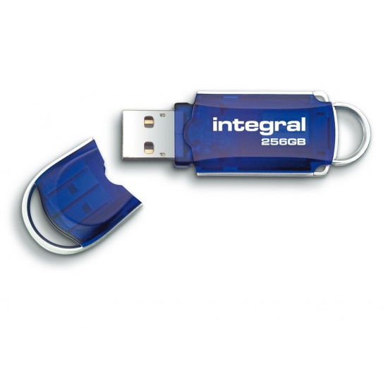 256GB Integral Courier USB2.0 Flash Drive - Blue Image