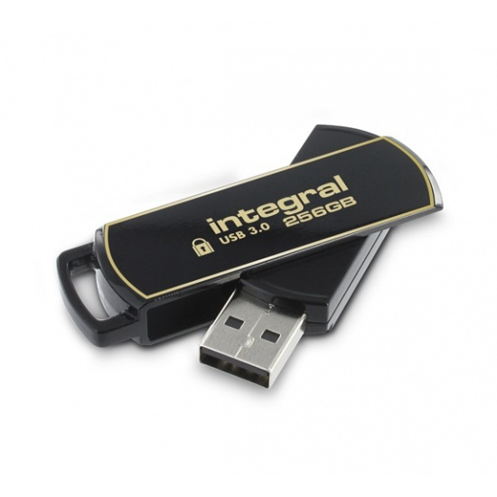 256GB Integral Secure 360 Encrypted USB3.0 Flash Drive (256-bit AES Encryption) Image