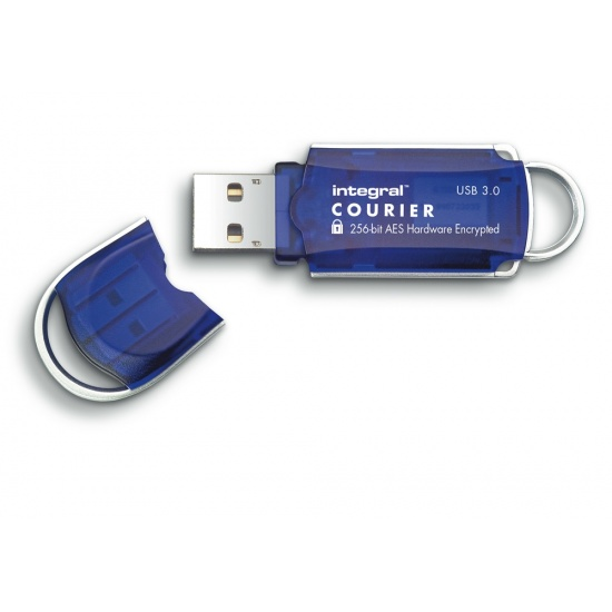 16GB Integral Courier FIPS 197 Encrypted USB3.0 Flash Drive 256-bit Encryption Image