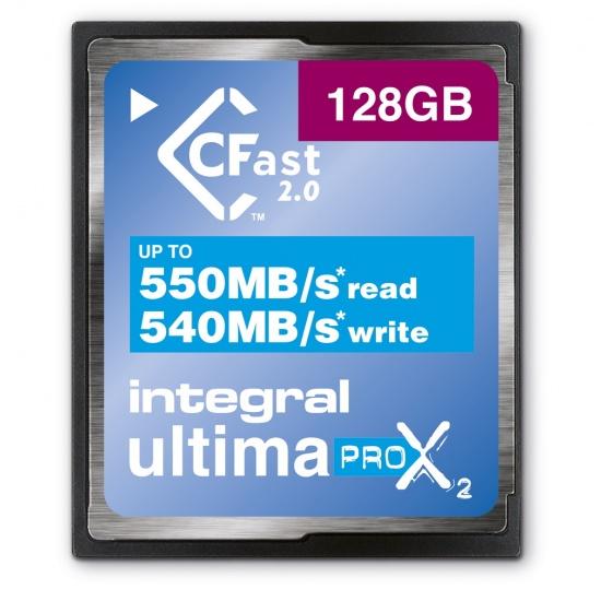 128GB Integral Ultimapro X2 CFast 2.0 3666x Memory Card Image