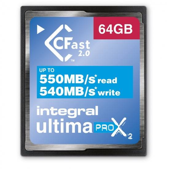 64GB Integral Ultimapro X2 CFast 2.0 3666x Memory Card Image