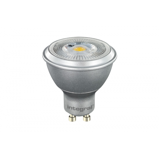 Integral LED GU10 6.8W Dimmable Spotlight - Silver Image